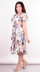 Веста. Красивое платье плюс сайз. Цветы.