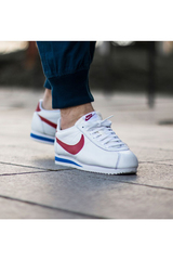 Кроссовки Nike Cortez Leather - White / Red / Blue