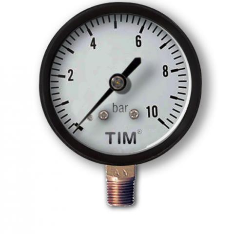 Манометр давления Tim 10 бар радиальный