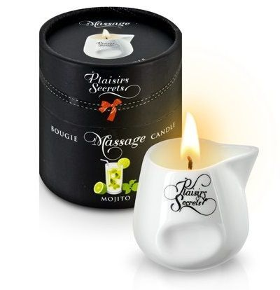 Массажные масла и свечи: Массажная свеча с ароматом мохито Bougie de Massage Mojito - 80 мл.