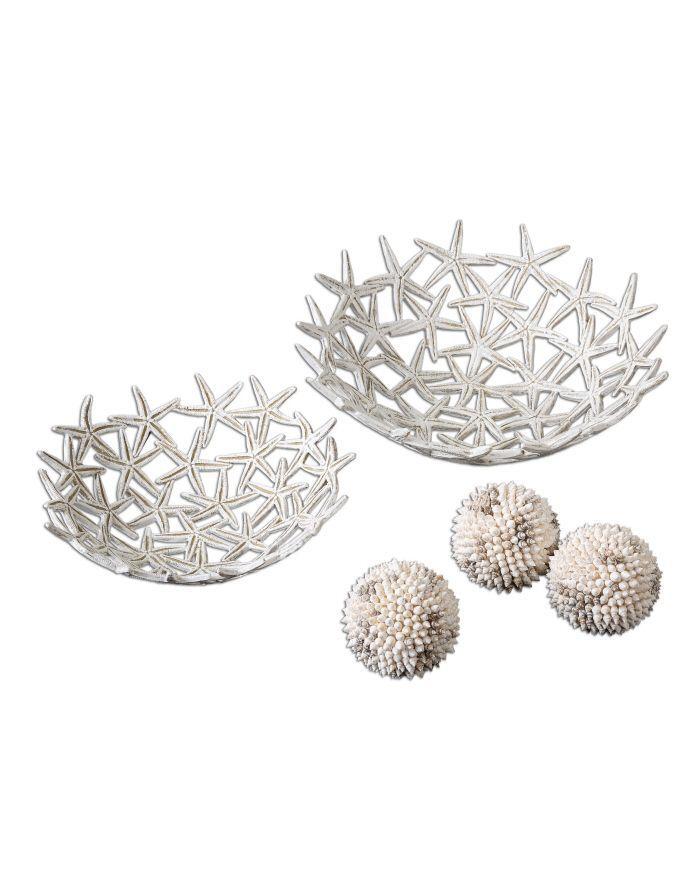 Ваза декоративная Uttermost 19557 Starfish Bowls Spheres