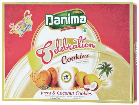Индийское печенье ассорти с тмином и кокосовой стружкой Данима, 300г