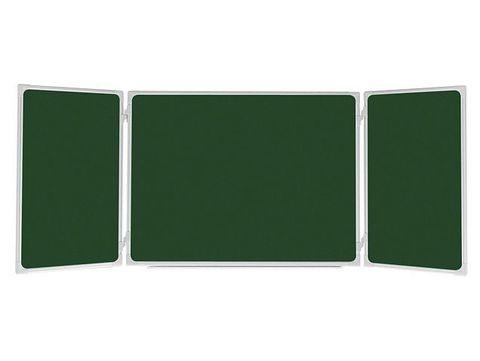 Меловая доска 2x3 TRK1510 зелёная, трехстворчатая