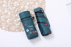 Миниатюрный зонт с защитой от УФ, 6 спиц, принт- Божья коровка (зеленый)