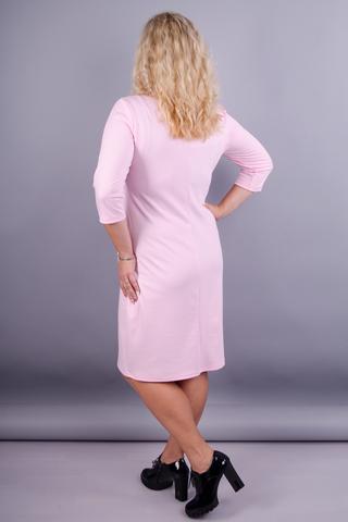 Аріна француз. Ніжне жіноче плаття великих розмірів. Персик.