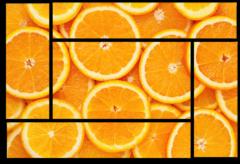 "Модульная картина ""Апельсин"""
