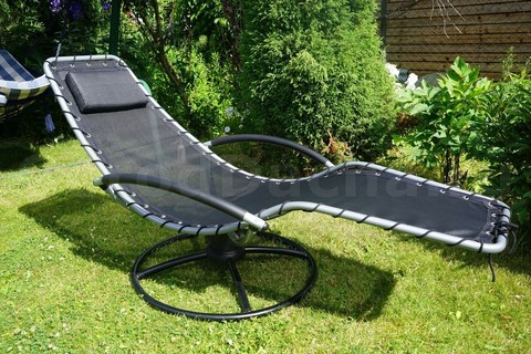 Кресло-шезлонг качалка «Флэт» на пружинной круглой подставке
