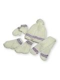 Вязаный комплект - Белый / сиреневый. Одежда для кукол, пупсов и мягких игрушек.