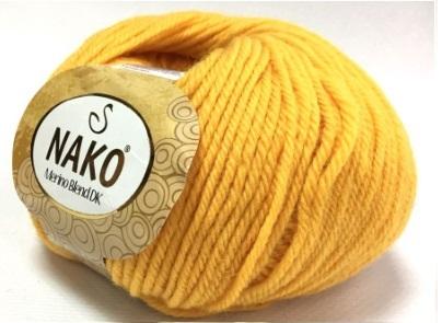 Пряжа Nako Merino Blend DK 3416 желток