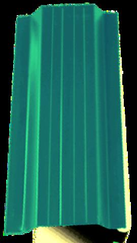 Штакетник металлический зеленый односторонний