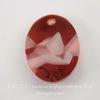 6911 Подвеска Сваровски Kaputt Oval Crystal Red Magma (26 мм)