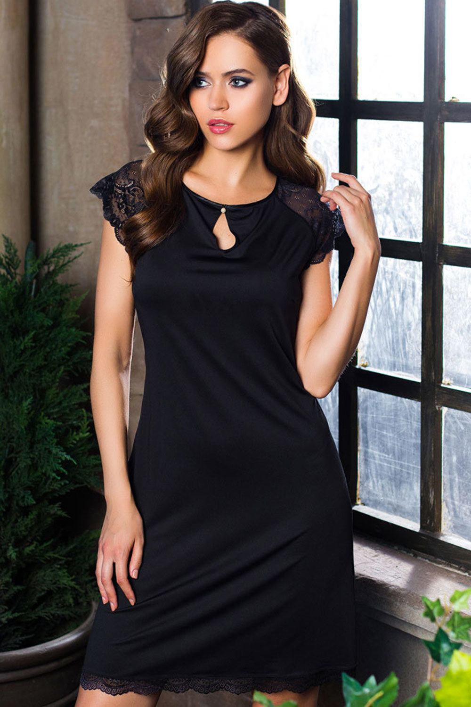 Mia-Mia Элегантная черная туника (Короткие сорочки)