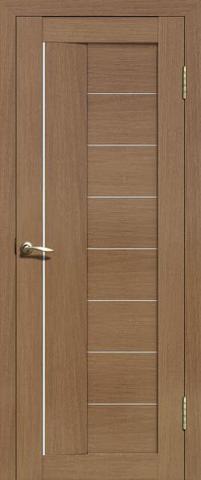 Дверь La Stella 201, цвет тиковое дерево, остекленная