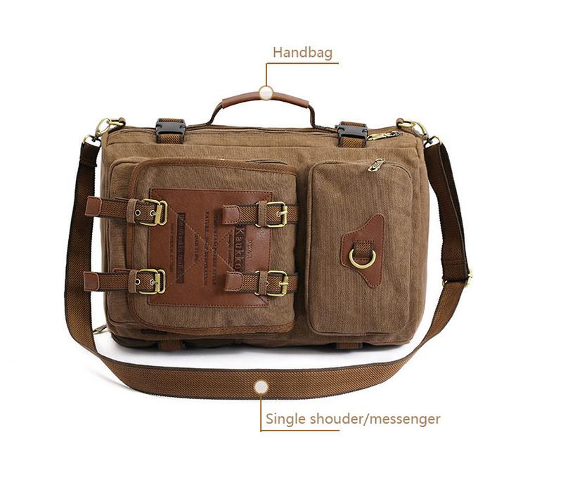 BAG367-2 Вместительный мужской рюкзак -трансформер из качественного текстиля фото 07