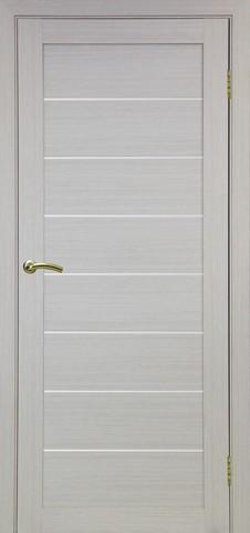 Дверь Optima Porte Турин 508.12, стекло матовое, цвет беленый дуб, остекленная