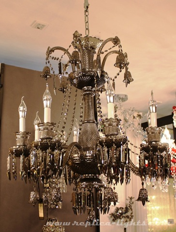 replica BACCARAT ZÉNITH CHANDELIER ( 8 lights + black )