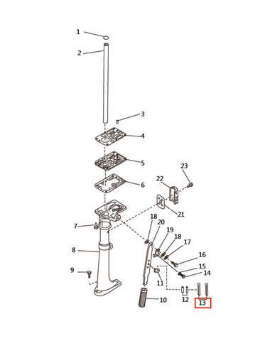 Шплинт винта для лодочного мотора T2,5 SEA-PRO (7-13)
