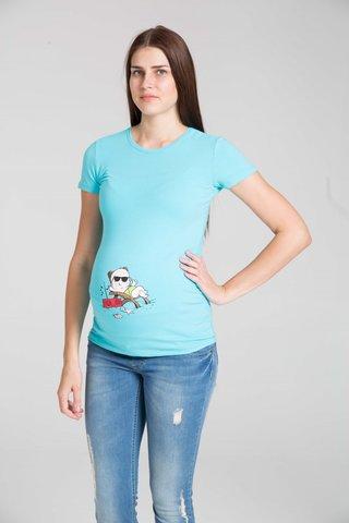 Футболка для беременных 07513 голубой