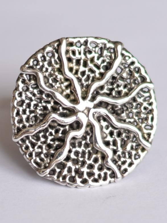 Солнцеворот (кольцо из серебра)