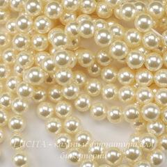 5810 Хрустальный жемчуг Сваровски Crystal Cream круглый 6 мм, 5 штук