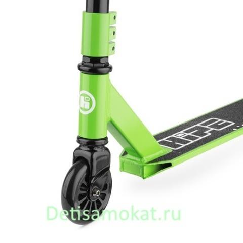 трюковый самокат hipe h1 зелено черный