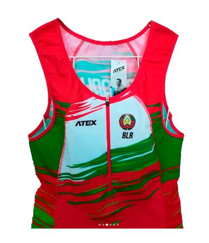 Гоночный национальный комбинезон ATEX с символикой РБ для спортсменов по гребле на байдарках и каноэ