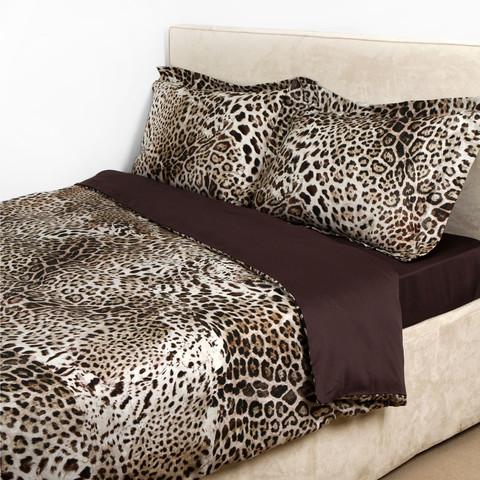Постельное белье 2 спальное евро макси Roberto Cavalli Bravo коричневое