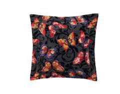 Наволочка декоративная 40x40 шенилловая Feiler Papillon черная