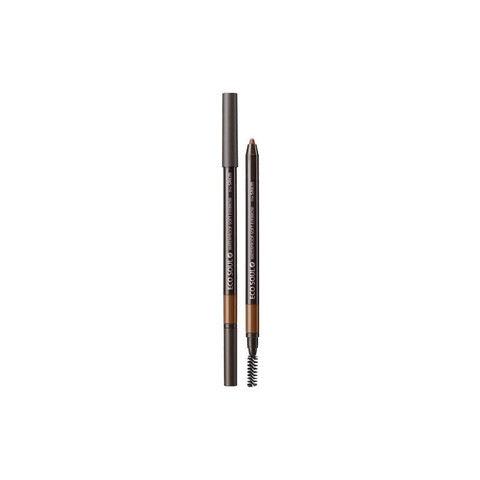 THE SAEM EYE Карандаш для бровей мягкий 02 Eco Soul Waterproof Soft Eyebrow 02 Gray Brown 0,5гр