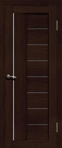 Дверь La Stella 201, цвет дуб мокко, остекленная