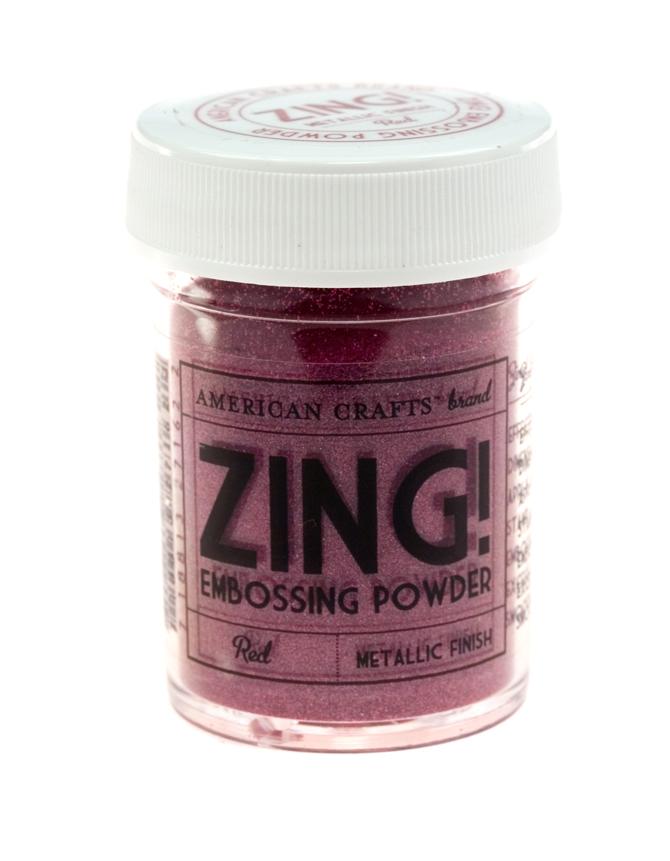 Пудра для эмбоссинга ZING! Metallic Red