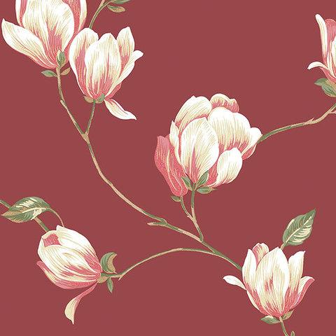 Обои Aura English Florals G34329, интернет магазин Волео