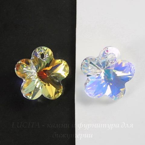 6744 Подвеска Сваровски Цветочек Crystal AB (14 мм)