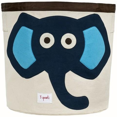 Корзина для игрушек 3 Sprouts Синий слонёнок