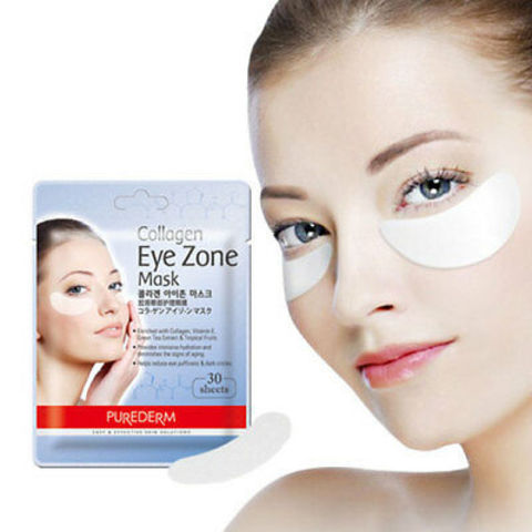 Маски-патчи коллагеновые под глаза Purederm Collagen Eye Zone Mask, 30 шт