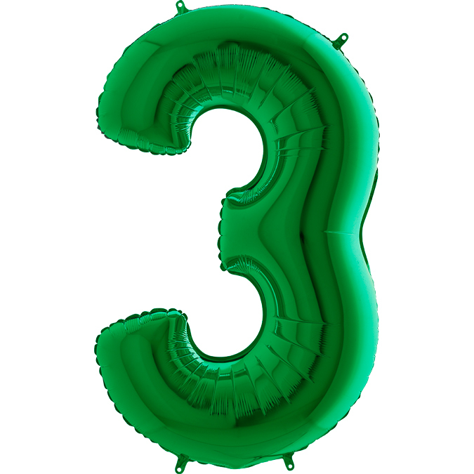 Фольгированные шарики в виде цифр Шар цифра 3 Зеленая 033gr-number-3-green.jpg