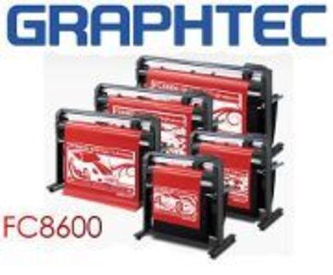 Рулонный промышленный режущий плоттер Graphtec FC8600-100 со стендом и корзиной