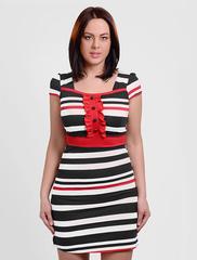201123 платье красно-черное