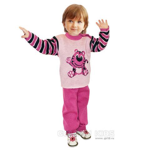 Golden kids Комплект вязаный для девочки розовый