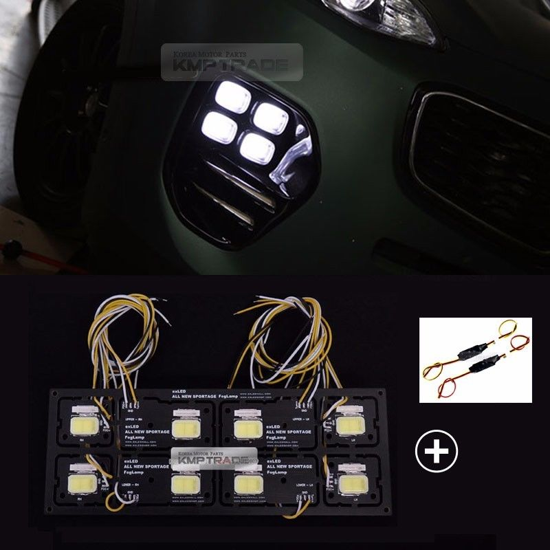 LED-модули в противотуманные фары EXL для KIA Sportage IV 2016 - car styling head lamp for kia sportage r led headlight assembly 2011 2013 angel eye led drl h7 with hid kit 2pcs