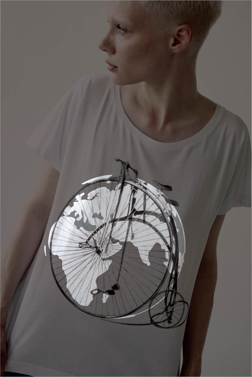 Женская футболка «Ретро-велосипед»