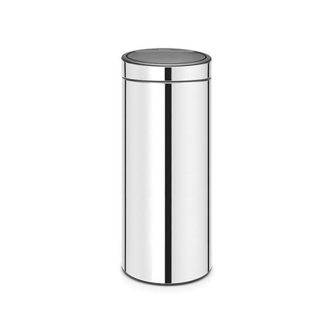 Мусорный бак Touch Bin New (30 л), Стальной полированный, арт. 115325 - фото 1