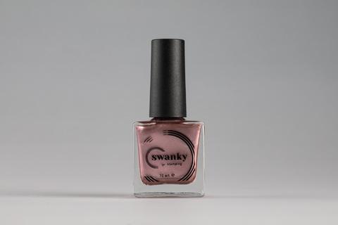 Лак для стемпинга Swanky Stamping Metallic 03, розовое золото, 10 мл.