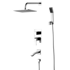 Смеситель для ванны и душа Lemark Unit LM4522C встраиваемый