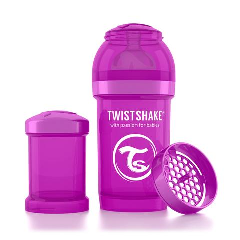 Twistshake бутылочка антиколиковая 180 мл. Фиолетовая (Bestie)