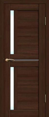 Дверь La Stella 202, стекло матовое, цвет дуб мокко, остекленная