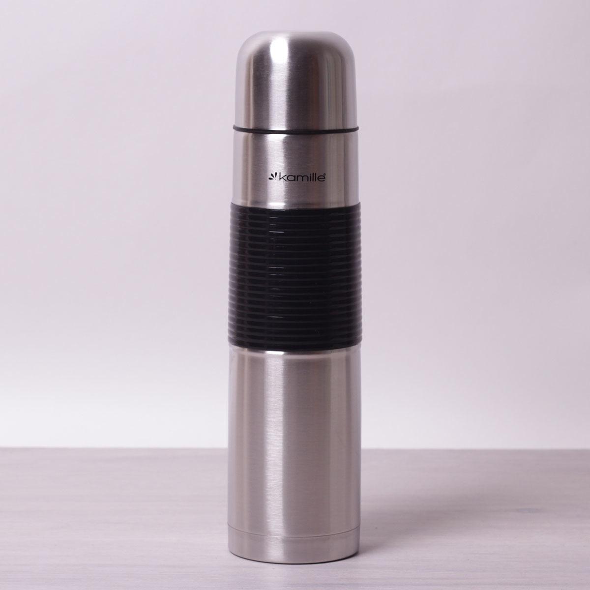 Термос 1000мл из нержавеющей стали с резиновой вставкой