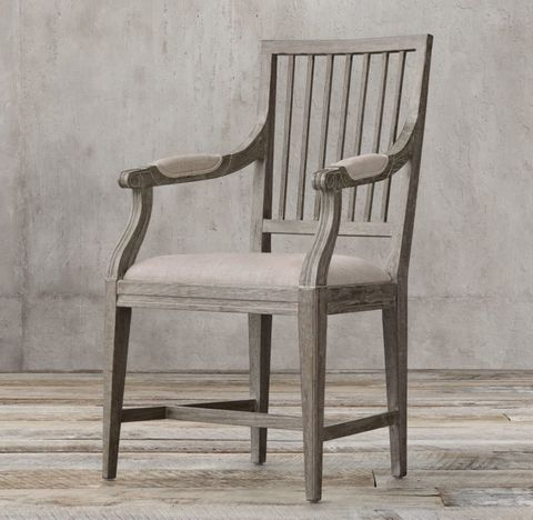 18th C. Gustavian Spindle Back Fabric Armchair