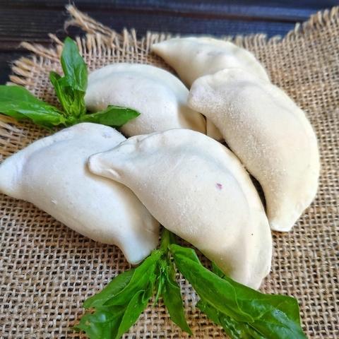Фотография Вареники постные с картофелем и грибами из цельнозерновой муки 500 г купить в магазине Афлора