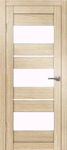 Дверь Дверная Линия Виктория, стекло снег, цвет лиственница, остекленная